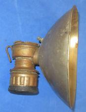 "ANTIQUE GUY'S DROPPER COAL MINING CARBIDE LAMP LIGHT W/ 7"" REFLECTOR"