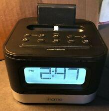 iHome iPL8BN Stereo FM Clock Radio with Lightning Dock for iPhone/iPod - Black