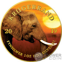 ELEPHANT Krugerrand Big Five 1 Oz Silver Coin 1 Rand South Africa 2019