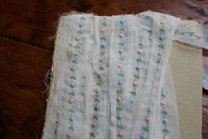 Antique Lace Trim Hand Made Eyelet and Embroidered Trim