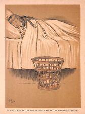 Cecil Aldin. dog print. 1904. CAMERA da letto di stampa. Child. il sonno. cane. bellezza Sybil.