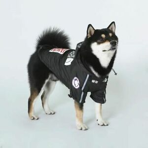 The Dog Face Black Jacket Fashion Waterproof Warm Funny Cute Coat Pupreme
