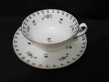 Pretty Cauldon wide mouth Ditsy blue flower  Tea Cup & Saucer Set England