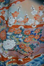 Vintage Japanese silk  Kimono  TOMESODE  from Japan 12-27