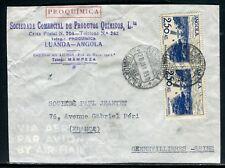 Angola - Enveloppe commerciale de Luanda pour la France en 1950 - ref D294