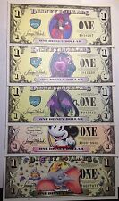Collection 5 Different Disney Dollars Inc. All 3 Villains +50th/80th Anniversary