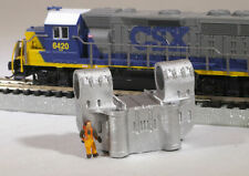 N Scale Double-Bearing Steel Casting Railroad Flatcar Load METALLIC color
