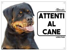ROTTWEILER CARTELLO TARGA ATTENTI AL CANE PVC DOG