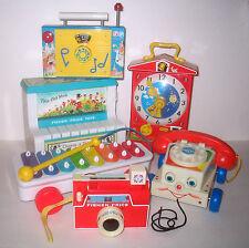 Fisher Price RETRO STYLE Piano Radio Clock Camera Chatter Phone