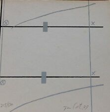 RAFAEL TUR COSTA COMPOSITION HAND SIGNED NUMBERD 1979 LITHO SPANISH  ARTIST