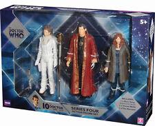 Doctor Who serie quattro 3 Figure Set, River Song, narratore, donna Noble NUOVO CON SCATOLA