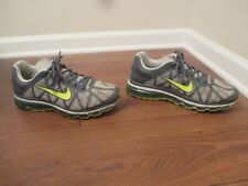 Used Worn Size 10.5 Nike Air Max 2011 Shoes Dark Grey, Volt, Pine Green
