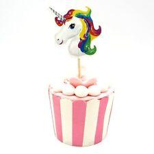 Einhorn Cupcake Toppers Kuchen-Deko 24 Stück - Kindergeburtstag Mädchen
