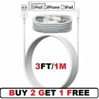 3FT/1M USB Cable For Original iPhone 5s 6 7 8 Plus iPhone X 11 Lightning Charger