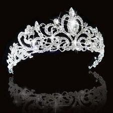 Crystal Rhinestone Crown Headband Hair Veil Tiara Wedding Bridal Prom Party HOT