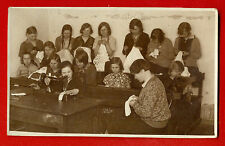 "PEOPLE AND Sewing machine "" SINGER '' VINTAGE PHOTO POSTCARD 1306"
