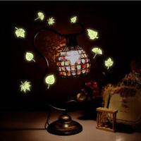 Glow In The Dark Wall Stickers Maple Leaf Shape Luminous Removable Decal Decor