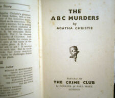 "Agatha Christie ""The ABC Murders"" 1st/4th UK Hardcover Very Rare 1937"