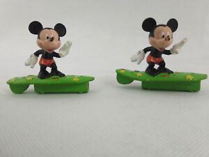 2x Figurine Mickey Surfeur  Disney 6x6cm  Envoi rapide et suivi