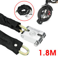 1.8M Motorcycle Scooter Heavy Duty Chain Disc Lock Padlock Security