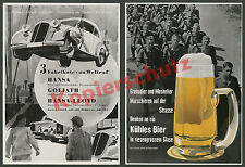 Advertising Hansa Lloyd Borgward GOLIATH Truck Car Bremen Free Port Loading Crane 1936