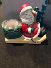 Partylite Santa 'N Sleigh Candle Holder P0326 Original Box, Christmas Decor