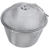 5X(Extra Große Tee-Kugel-Tee-Ei Aus Edelstahl Mit Drehverschluss Und HakenkM4M2)
