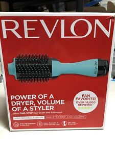 Revlon One-Step Hair Dryer& Volumizer Hot Air Brush Mint Color