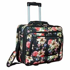 World Traveler Rolling 17-inch Laptop Case - Rose Lily
