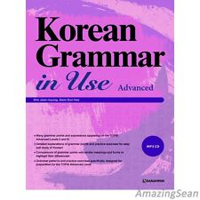 Korean Grammar in Use with MP3 CD Advanced Korea Text Book Educational TOPIK