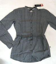 OCK  Damen langarm Long Bluse    Gr. 38   grau