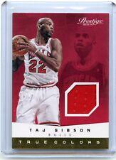 "2013-14 PRESTIGE #50 TAJ GIBSON JERSEY CARD ""TRUE COLORS"", CHICAGO BULLS, 120813"