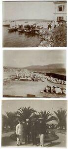 Unknown location Greece ? Turkey ? Lot three small photos unmounted 1900c