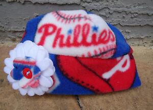 Philadelphia Phillies Fleece Flower Hat - Newborn, Girls, Children, Adult women