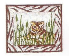 Tiger Safari Savanah Reeds Embroidery Applique Patch
