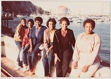 Vintage 80s Photo Group Black Women On Vacation Catalina Island
