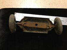 """Vintage truck part -- KINGSBURY Keene NH - 2 tires & connected hub 4 3/4"""" wide"""