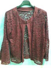 Donna Giacca con cintura cappotto blazer spolverino manica lunga Crepe Top Legare UK 8-26