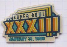 NFL / WORLD BOWL XXXIII 1999 / MIAMI /  AMERICAN FOOTBALL Sport-Pin (130e)