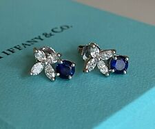 Tiffany & Co. Victoria Sapphire and Diamond Earrings in Platinum
