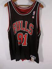 NWT VTG Champion Dennis Rodman Chicago Bulls Reverse Jersey XL 48 Red Black USA