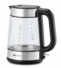 PureMate PM 1625 Cordless Fast Boil Glass Electric Kettle 1.7 Litre - 3000w