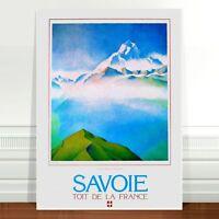 "Stunning Vintage Travel Poster Art ~ CANVAS PRINT 16x12"" ~ Savoi France"