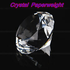 40mm Clear Crystal Diamond Cut Glass Jewelry Paperweight Wedding Home Decor New