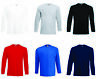 3 x Fruit Of The Loom MEN'S LONG SLEEVE PLAIN COTTON T-SHIRT TOP SHIRTS 3 PACK