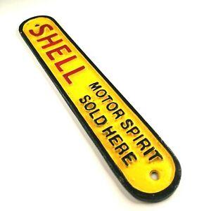 Shell Motor Oil - Heavy Cast Iron Sign Oblong
