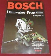 bosch gmbh heimwerker programm katalog prospekt heft profi geräte garten  1978