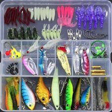 100pc/Set Fishing Lures Tackle Fishing Baits Crank baits Spinnerbaits Soft Baits