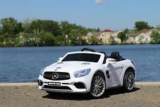 Mercedes Benz Sl 12V Kids Electric Ride-On Car with Remote - White
