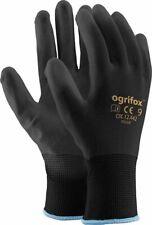 Ogrifox Schutzhandschuhe Handschuhe Arbeitshandschuhe Schwarz, Gr.7- 10, 24 Paar